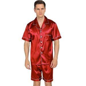 NWT Men's Red Satin Pajama Set